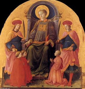 Fra Filippo Lippi - St Lawrence Enthroned with Saints and Donors