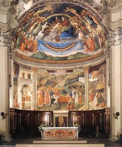 Fra Filippo Lippi - View of the Apse of the Cathedral