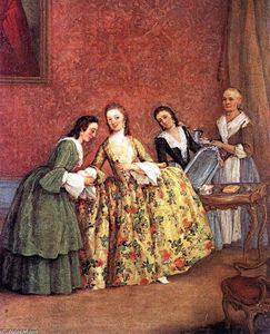 Pietro Longhi - The Venetian Lady's Morning