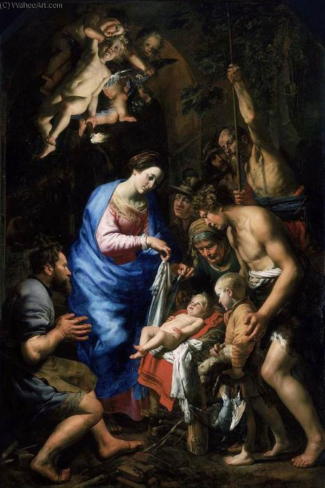 Adoration of the Shepherds, Oil On Canvas by Theodoor Van Loon (1581-1667, Germany)
