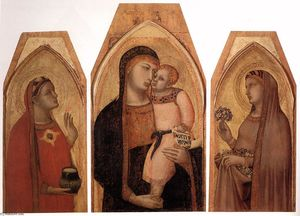 Ambrogio Lorenzetti - Madonna and Child with Mary Magdalene and St Dorothea