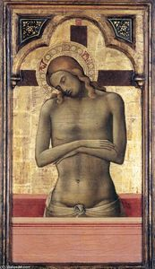 Order Oil Painting : Christ as the Man of Sorrows, 1415 by Lorenzo Monaco (1370-1425, Italy) | WahooArt.com