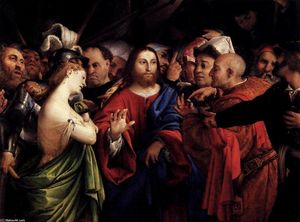 Lorenzo Lotto - Christ and the Woman Taken in Adultery