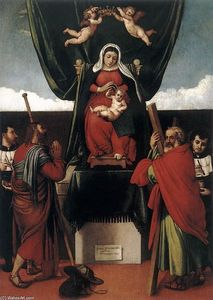 Lorenzo Lotto - Virgin and Child with Saints