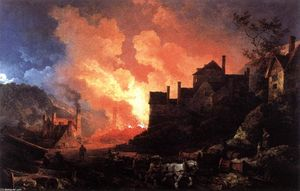 Philip Jacques De Loutherbourg - Coalbrookdale by Night