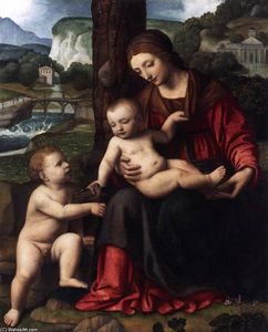 Bernardino Luini - Madonna with Child and the Young St John