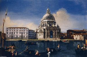 Michele Marieschi - The Grand Canal with Santa Maria della Salute