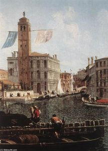 Michele Marieschi - The Grand Canal with the Fishmarket (detail)