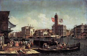 Michele Marieschi - The Grand Canal with the Palazzo Labia and Entry to the Cannareggio