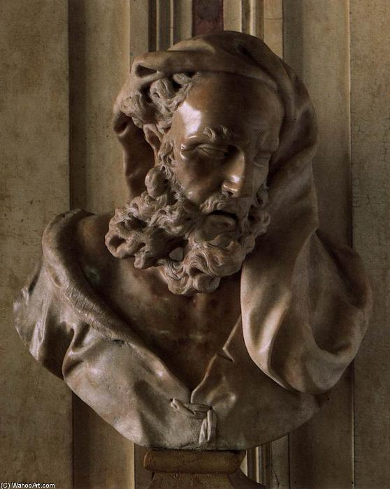Old Man, Marble by Orazio Marinali (1643-1720, Italy)