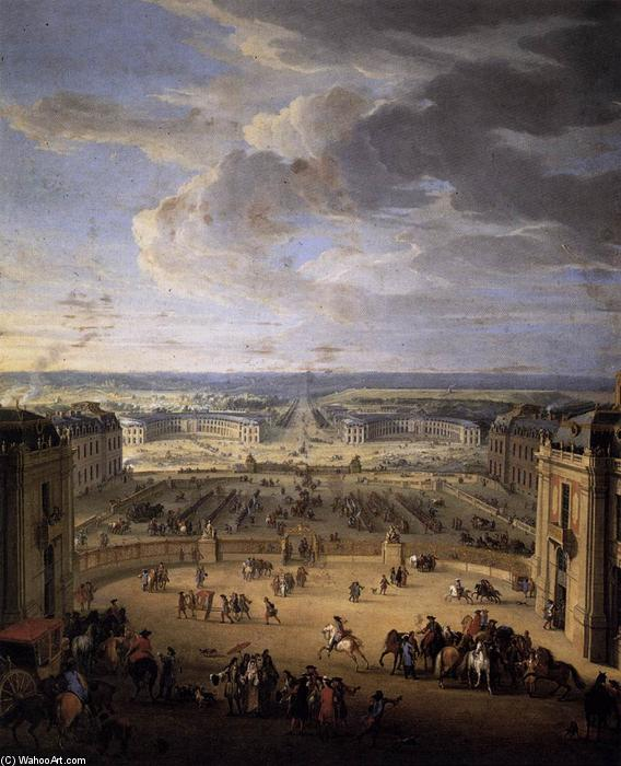 The Stables Viewed from the Château at Versailles, Oil On Canvas by Jean-Baptiste Martin (Martin Des Batailles)