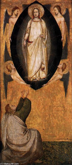 Descent of Mary's Girdle to the Apostle Thomas, Panel by Maso Di Banco