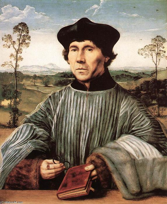 Portrait of a Canon, Oil by Quentin Massys (1466-1530, Belgium)