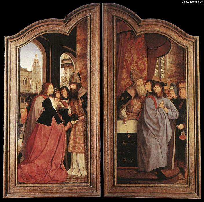 St Anne Altarpiece (closed), 1507 by Quentin Massys (1466-1530, Belgium) | Oil Painting | WahooArt.com