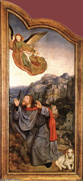 St Anne Altarpiece (left wing), Oil by Quentin Massys (1466-1530, Belgium)