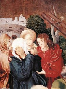 Master M S - Christ Carrying the Cross (detail)