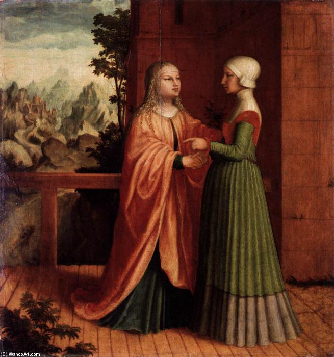 The Visitation, Oil On Panel by Master Of Ab Monogram
