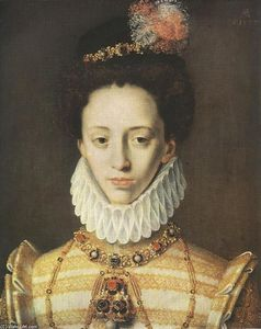 Order Paintings Reproductions | Portrait of a Princess of Jülich, Cleve and Berg, 1577 by Master Of Ac Monogram | WahooArt.com