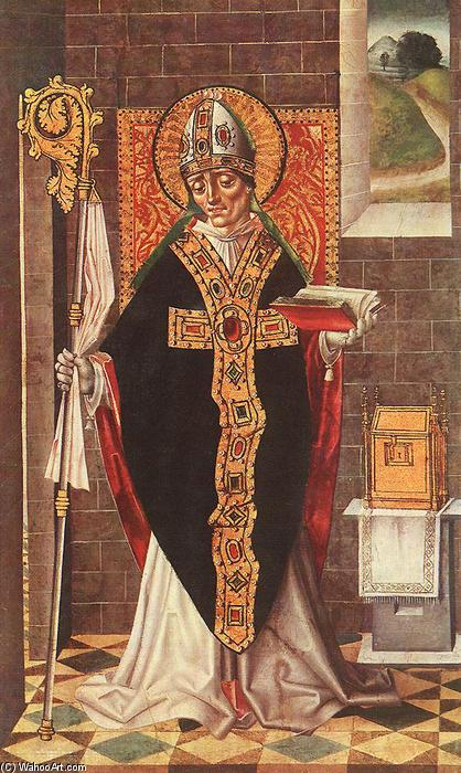 Holy Bishop, Tempera by Master Of Budapest
