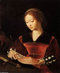 Master Of Female Half Lengths - St Catherine