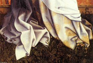 Robert Campin (Master Of Flemalle) - Virgin and Child (detail)