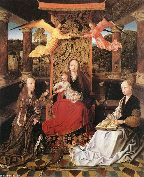 Madonna and Child with Sts Catherine and Barbara by Master Of Hoogstraeten | Reproductions Master Of Hoogstraeten | WahooArt.com