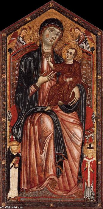 Virgin and Child Enthroned, Tempera by Master Of Magdalen