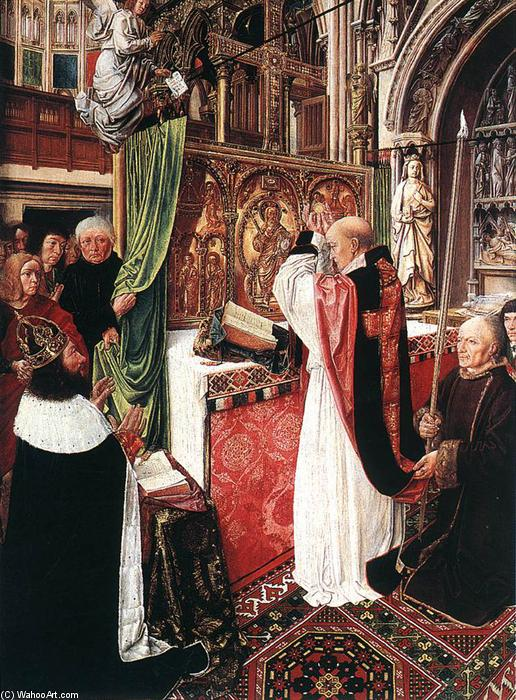 The Mass of St Gilles, 1500 by Master Of Saint Gilles | Famous Paintings Reproductions | WahooArt.com