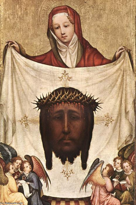 St. Veronica with the Holy Kerchief, Tempera by Master Of Saint Veronica