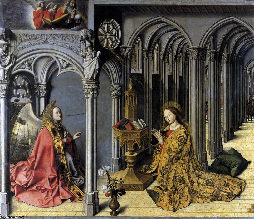 Annunciation, Oil by Master Of The Aix Annunciation