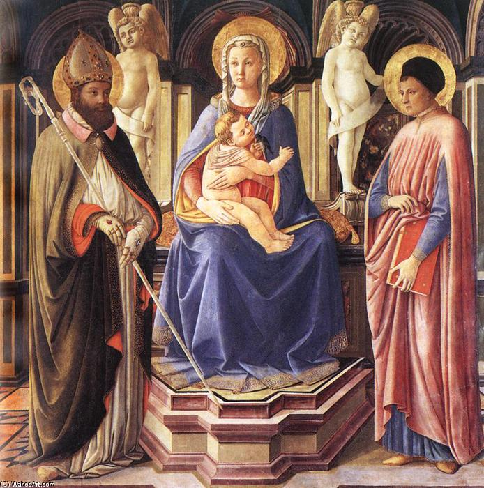 Madonna and Sts Justus and Clement, 1450 by Master Of The Castello Nativity | Reproductions Master Of The Castello Nativity | WahooArt.com