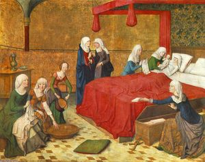 Master Of The Life Of The Virgin - The Birth of Mary