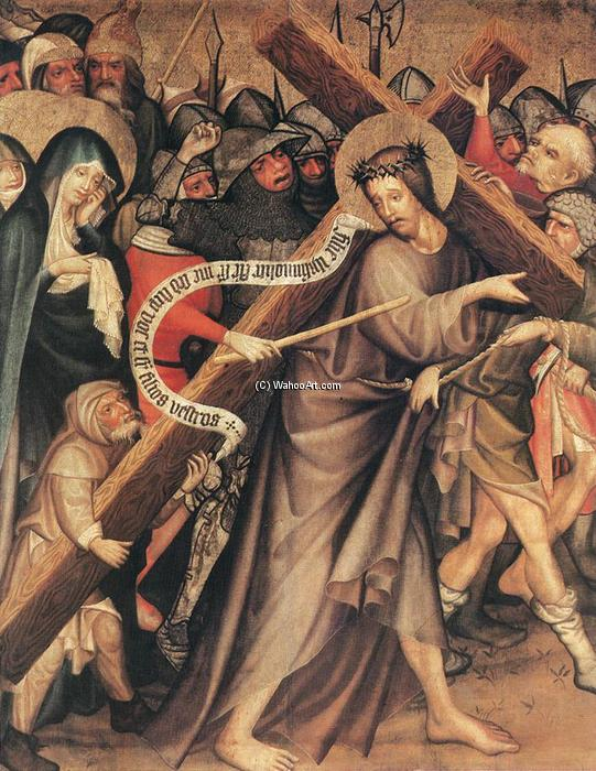 Christ Carrying the Cross, 1427 by Master Thomas De Coloswar | Reproductions Master Thomas De Coloswar | WahooArt.com