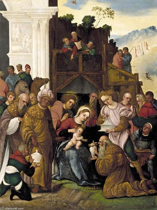 Adoration of the Magi, Oil On Panel by Ludovico Mazzolino (1480-1528, Italy)
