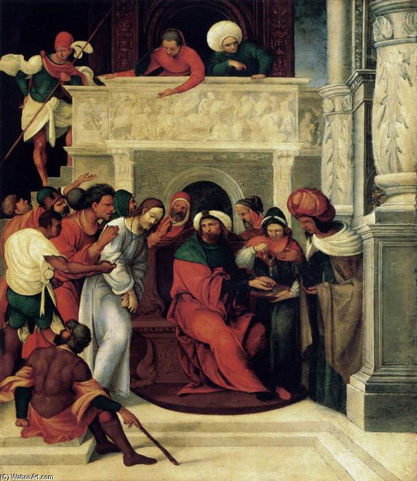 Christ before Pilate, 1525 by Ludovico Mazzolino (1480-1528, Italy) | Museum Quality Reproductions | WahooArt.com