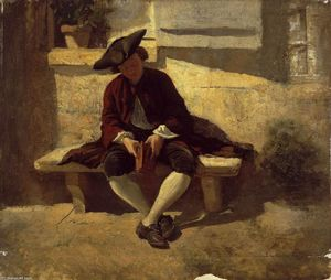 Jean Louis Ernest Meissonier - Young Man with a Book