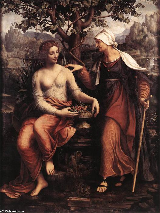 Order Art Reproductions | Pomona and Vertumnus, 1517 by Francesco Melzi (1491-1570, Italy) | WahooArt.com