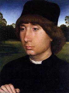 Hans Memling - Portrait of a Young Man before a Landscape