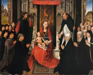 Hans Memling - Virgin and Child with Sts James and Dominic