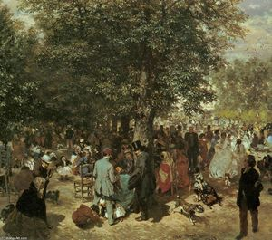 Adolph Menzel - Afternoon at the Tuileries Garden
