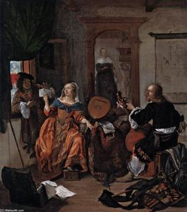 Gabriel Metsu - A Musical Party