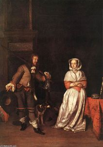 Gabriel Metsu - The Hunter and a Woman
