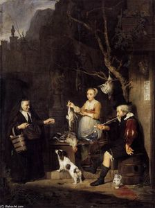 Gabriel Metsu - The Poultry Woman