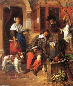 Gabriel Metsu - The Sleeping Sportsman