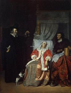 Gabriel Metsu - Visit of the Physician