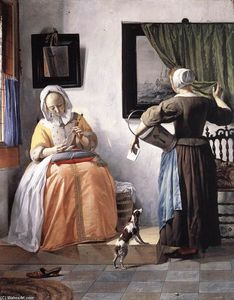 Order Paintings Reproductions | Woman Reading a Letter, 1662 by Gabriel Metsu (1629-1667, Netherlands) | WahooArt.com