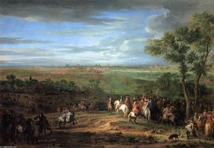 Adam Frans Van Der Meulen - Louis XIV Arriving in the Camp in front of Maastricht