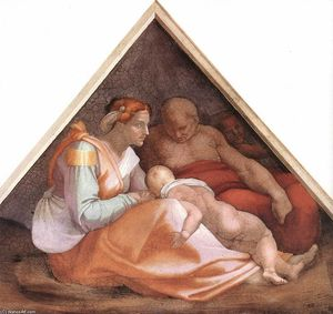 Michelangelo Buonarroti - Ancestors of Christ: figures (14)