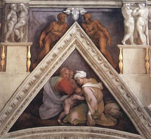 Michelangelo Buonarroti - Ancestors of Christ: figures (17)