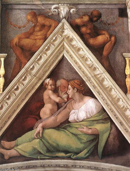 Ancestors of Christ: figures (18), 1510 by Michelangelo Buonarroti (1475-1564, Italy) | Art Reproductions Michelangelo Buonarroti | WahooArt.com